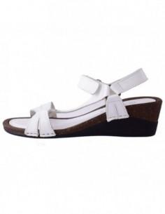 Sandale dama, piele naturala, marca Walk, Cod B222821620-K2, culoare alb satin