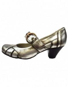 Pantofi dama, din piele naturala, marca Carmens, B23302-14, gri
