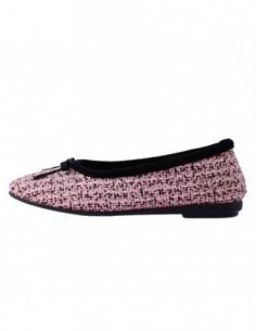 Papuc de casa dama, piele naturala, marca Gioseppo, Cod B29016-J1, culoare roz cu diverse