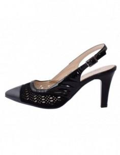 Pantofi decupati dama, piele naturala, marca Deska, Cod B29317-1, culoare negru