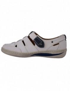 Sandale dama, din piele naturala, marca Reflexan, B29832-K2, alb satin