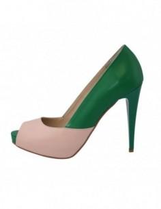 Pantofi dama, din piele naturala, marca Botta, B390-6, verde