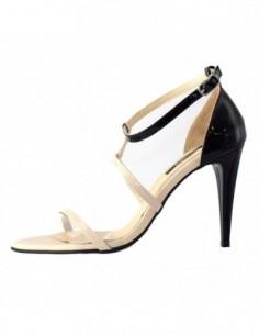 Sandale dama, piele naturala, marca Botta, Cod 667-M2-05, culoare negru cu crem