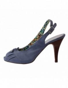 Pantofi decupati dama, piele naturala, marca sOliver, Cod B5-29606-36-7, culoare albastru