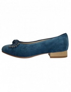Balerini dama, din piele naturala, marca Jenny Ara, B53725-1, albastru