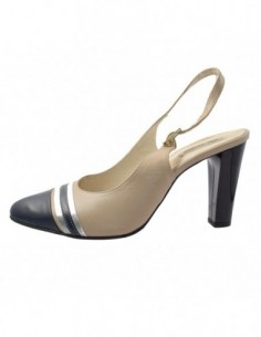 Pantofi dama, piele naturala, marca San Savana, Cod B611-3, culoare bej