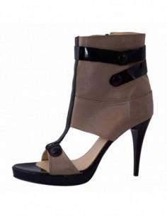 Pantofi dama, din piele naturala, marca San Savana, B8407-14, gri
