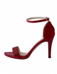Sandale dama, piele naturala, marca Karisma, Cod B843-5, culoare rosu