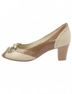 Pantofi dama, piele naturala, marca Alpina, Cod B8R14-2-3, culoare bej