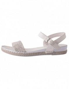 Sandale dama, din piele naturala, marca Walk, B902930410-K2, alb satin