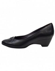 Pantofi dama, din piele naturala, marca San Savana, B908-1, negru