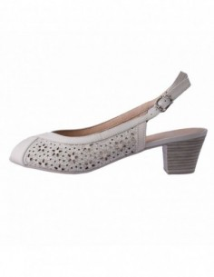 Pantofi decupati dama, piele naturala, marca Caprice, Cod B9-28207-26-109-3, culoare bej