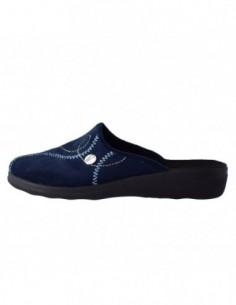 Papuc de casa dama, piele naturala, marca Inblu, Cod BCA-87-7, culoare albastru