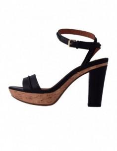 Sandale dama, din piele naturala, marca Geox, D32R1C-1, negru
