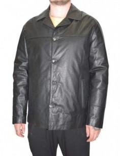 Haina barbati, piele naturala, marca La Strada, Cod 0-12-1, culoare negru