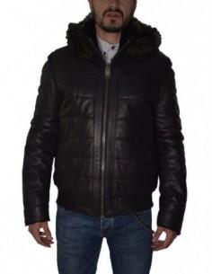 Haina barbati, piele naturala, marca Kurban, Cod 0-16-1, culoare negru