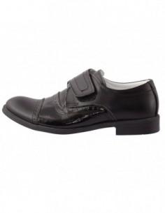 Pantofi copii, piele naturala, marca Hobby bimbo, Cod 0-2-1, culoare negru