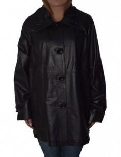 Haina dama, piele naturala, marca De Vito, Cod 0-35-1, culoare negru