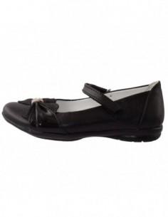 Balerini copii, piele naturala, marca Hobby bimbo, Cod 0-6-1, culoare negru