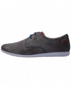 Pantofi barbati, din piele naturala, marca Pikolinos, 07R-6690C1-14, gri