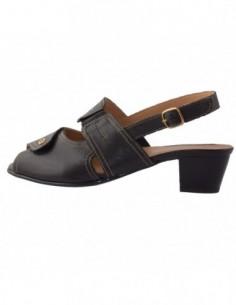 Sandale dama, piele naturala, marca Johnny, Cod 1012-1, culoare negru