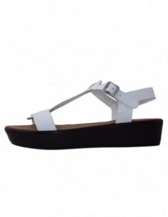 Sandale dama, piele naturala, marca Tamaris, Cod 1-28214-26-K2, culoare alb satin