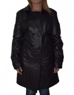 Haina dama, piele naturala, marca De Vito, Cod 1302-1, culoare negru