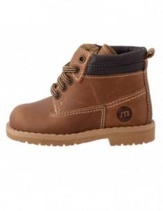 Pantofi copii, din piele naturala, marca Melania, 1503B01-2, maro