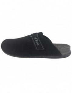 Papuci de casa barbati, textil, marca sOliver, Cod 17301-1, culoare negru