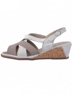 Sandale dama, piele naturala, marca Suave, Cod 1838CT-3, culoare bej