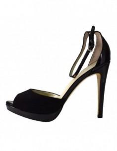 Sandale dama, piele naturala, marca Deska, Cod 19302-1, culoare negru