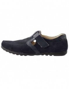 Pantofi copii, piele naturala, marca Hobby bimbo, Cod 19-42, culoare bleumarin