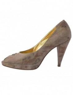 Pantofi dama, din piele naturala, marca Endican, 197-3, bej