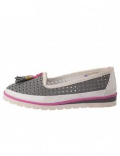 Pantofi copii, piele naturala, marca Hobby bimbo, Cod 2-14, culoare gri