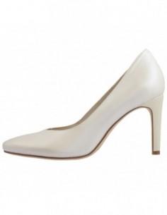 Pantofi dama, piele naturala, marca Tamaris, Cod 22429-13-10, culoare alb satin