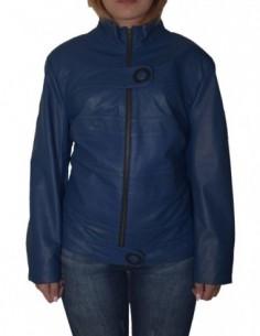 Haina dama, piele naturala, marca Kurban, Cod 24-7, culoare albastru