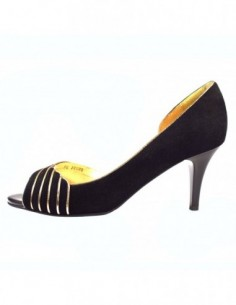 Pantofi decupati dama, piele naturala, marca Deska, Cod 25231-1, culoare negru