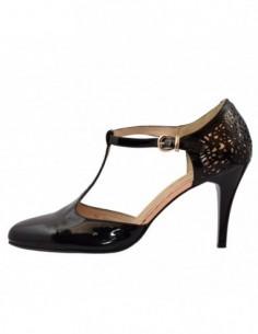Pantofi decupati dama, piele naturala, marca Deska, Cod 29233-1, culoare negru
