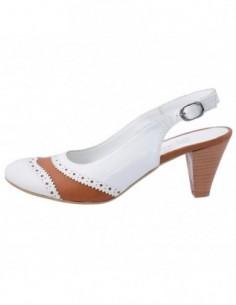 Pantofi decupati dama, din piele naturala, marca Endican, 466-13, alb