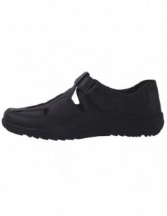 Sandale barbati, piele naturala, marca Waldlaufer, Cod 478302-1, culoare negru