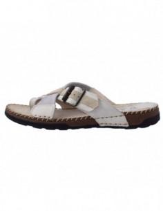 Saboti barbati, piele naturala, marca Walk, Cod 499-2125-3, culoare bej