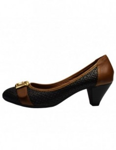 Pantofi dama, din piele naturala, marca Endican, 5126-1, negru