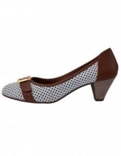 Pantofi dama, piele naturala, marca Endican, Cod 5126-4, culoare camel