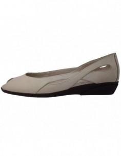 Pantofi decupati dama, din piele naturala, marca Flexx, 52195-3, bej