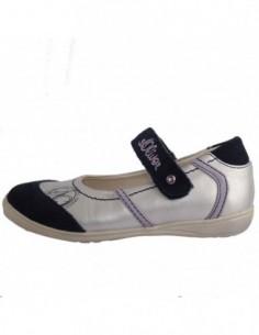 Pantofi copii, piele naturala, marca sOliver, Cod 5-32600-26-H1, culoare gri cu diverse