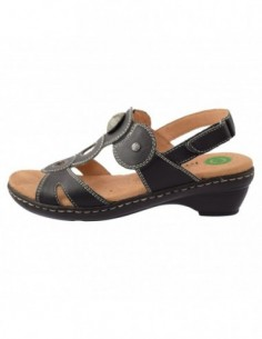 Sandale dama, piele naturala, marca Reflexan, Cod 54405-1, culoare negru