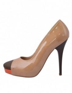 Pantofi dama, din piele naturala, marca Botta, 558-A7, bej cu orange
