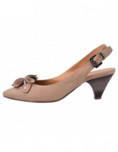 Pantofi decupati dama, piele naturala, marca Johnny, Cod 6509-3, culoare bej