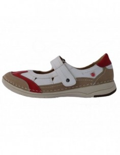 Sandale dama, piele naturala, marca Reflexan, Cod B71825-53-K2, culoare alb satin