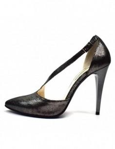 Pantofi decupati dama, piele naturala, marca Botta, Cod 887-90, culoare fumo